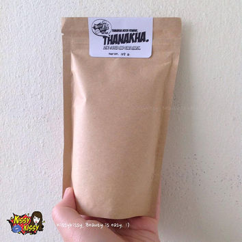 Refill-Thanakha wood powder 100% face mask and scrub 2 in 1 -105g.