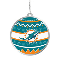 Miami Dolphins  Official NFL Metal Ornate Ball Ornament