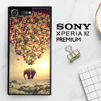 Elephant And Balloon V1482 Sony Xperia XZ Premium Case