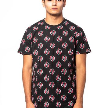 Oasis Long Tee - Black/Red