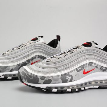 Nike Air Max 97 Og Camo Silver Bullet Metallic Silver/varsity Red-black - Beauty Ticks