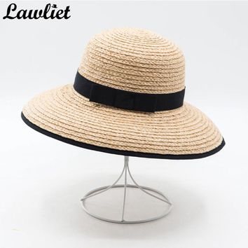 Summer Hat for Women Wide Brim Raffia Straw Hats Ladies Floppy Sun Hats Feminino Foldable Beach Hats Y26