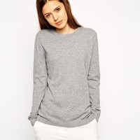 ASOS Premium Cashmere Rich Crew Neck Sweater