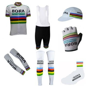 more styles !2018 UCI Pro teams 7PCS full set cycling jersey Short sleeve bike clothing MTB Ropa Ciclismo Bicycle maillot GEL