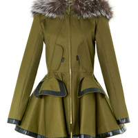 Twill Parka With Fox Fur by Prabal Gurung - Moda Operandi