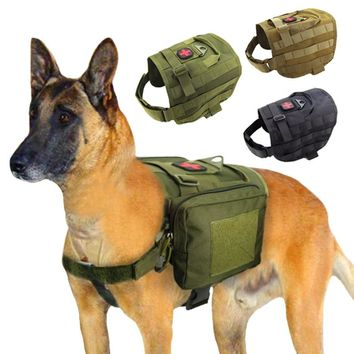 Tactical Dog Vest Harness Military Harness For Medium Large Dogs Size M L High Quality