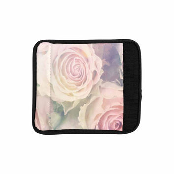 "Suzanne Carter ""Faded Beauty"" Blush Floral Luggage Handle Wrap"