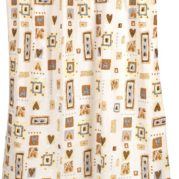Patty Fabric Shower Curtain And Window Curtain Set