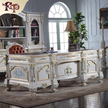 luxury office furniture - baroque hand carving royalty study room set