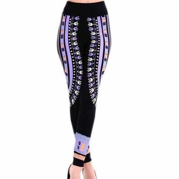 Print Tight Sexy Leggings - Purple One Size(fit Size Xs To M)