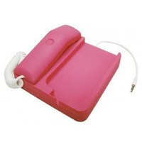 ELONGPRO Retro Phone Telephone Handset Dock Stand for i Phone 4 4G 3GS & Smartphones Hot Pink F13