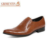slip on shoes men casual genuine leather black brown fashion business office summer men shoes foot wear