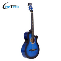 "High Quality 38"" Guitar Acoustic Folk Guitar Basswood 6-String Guitar for Students"