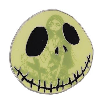 Disney Parks Jack Skellington and Sally Glows in the Dark Pin New with Card