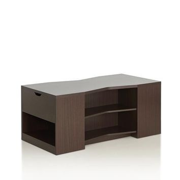 Thusa Modern Coffee Table in Walnut