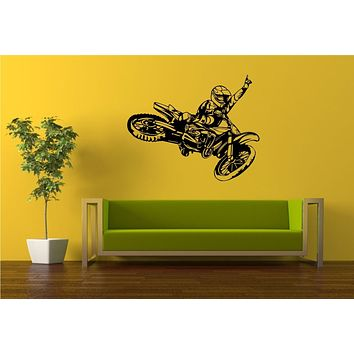 Dirtbike Rider Version 112 Wall Decal Sticker Mx X Games Trick Racing Motorcycle