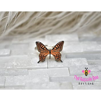 Monarch Butterfly Stretch Elastic Ring
