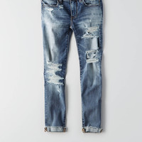 AEO Denim X Café Jegging Crop, Blurry Blue