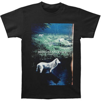 Being As An Ocean Men's  Alpine Wolf T-shirt Black Rockabilia