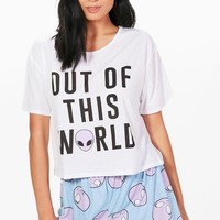 Holly 'Out Of This World' Pj Short Set | Boohoo