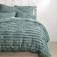 Spliced Linen Duvet by Anthropologie