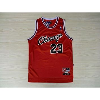 VTG Jordan Chicago Bulls #23 Nike Sewn NBA Basketball Jersey Red