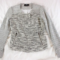 "~~~ THE FINISHING TOUCH! ~~~ $375 SACHIN + BABI ""VERONICA"" TWEED KNIT JACKET ~ 2"