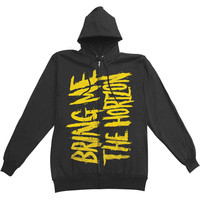 Bring Me The Horizon Men's  BMTH Logo Zippered Hooded Sweatshirt Black