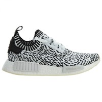 Adidas NMD_R1 Primeknit Sashiko Mens BZ0219 White Black Running Shoes Size 9