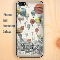 Hot Air Balloon up iphone 6 6 plus iPhone 5 5S 5C case Samsung S3,S4,S5 case Ipod Silicone plastic Phone cover Waterproof