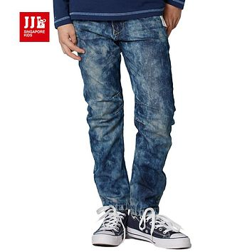fashion boys jeans 2017 spring kids pants boys clothing winter boys bottoms elastic waist trendy boys jeans