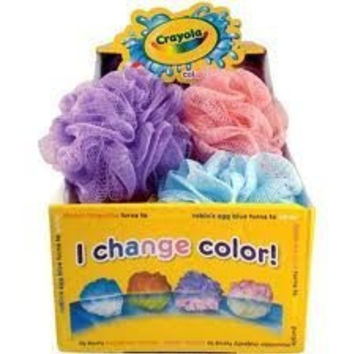 Crayola: Color-changing Scrubby, 1 Count - Pink - Mesh Sponge - Pouf