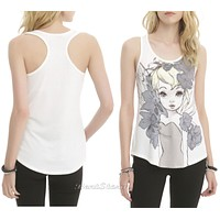 Licensed cool Disney Peter Pan Tinker Bell Tinkerbell Illustrated Racer Back Tank Top JRS S L
