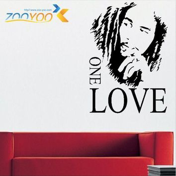 Bob Marley Love Quote Wall Stickers One Love Vinyl Home Decor For Living Room Bedroom Decorations