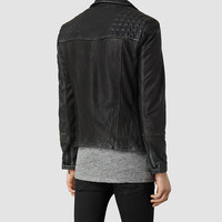 Cargo Leather Biker Jacket | Mens Leather Jackets | AllSaints