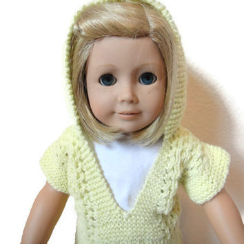 American Girl Doll Pullover Sweater Shirt Yellow
