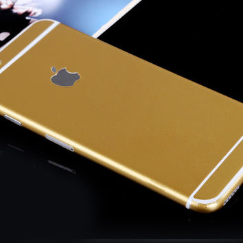 Gold Pure Decal Wrap Skin Set iPhone 6s 6 / iPhone 6s 6 Plus