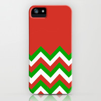 Color Blocked Chevron: Red/Green iPhone & iPod Case by Josrick