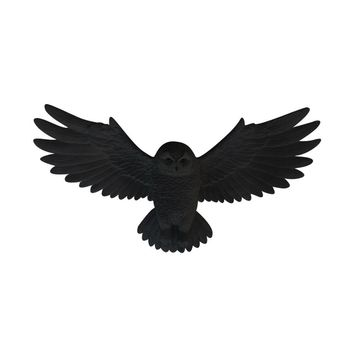 The Owlbert | Flying Owl | Faux Taxidermy | Black Resin