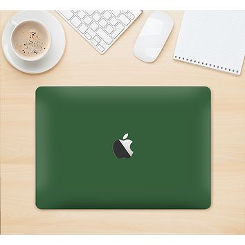 "The Solid Hunter Green Skin Kit for the 12"" Apple MacBook"