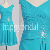 Short Ice Blue Bridesmaid Dresses Prom Dresses Party Dresses Homecoming Dresses 2014 New Fashion