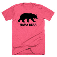 Mama Bear T-Shirt for Women - Papa Bear T Shirt for Men - Customizable T Shirt - Gift for Mom - Father's Day Gift - T Shirt for Mom or Dad