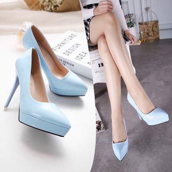 Cute Hot Sale On Sale Hot Deal Coffee Drinks Pointed Toe Waterproof High Heel Shoes Cup [6044951617]