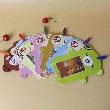 Wall Deco DIY Creative Mini Paper Photo Frame With Mini Colored Clothespins And Twine -Fit Instax Mini Film