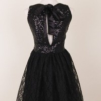 Glitter Floral Lace Dress - Retro, Indie and Unique Fashion