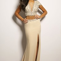 Two-Piece Nude Gown 98071 - Prom Dresses