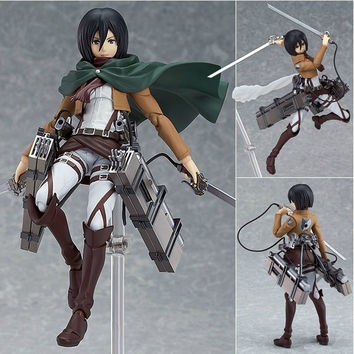 """Attack on Titan Mikasa Ackerman 6"""" PVC Action Figure Collectible Model Doll Toy For Kids"""