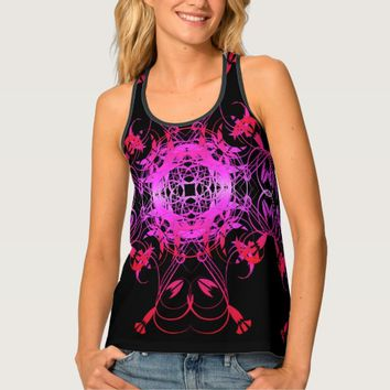 Hot Pink Vines Tank Top