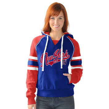 Women's New York Giants G-III 4Her by Carl Banks Royal Shutout Pullover Hoodie