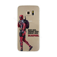 Deadpool Phone Back Cover Case for Samsung Galaxy S3 S4 S5 Mini S6 S7 Edge